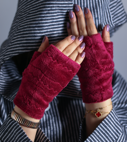Wool Short gloves