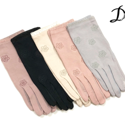 Flowers Cotton Gloves