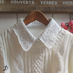 Crochet trim Collar
