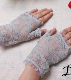 Short lace fashion gloves