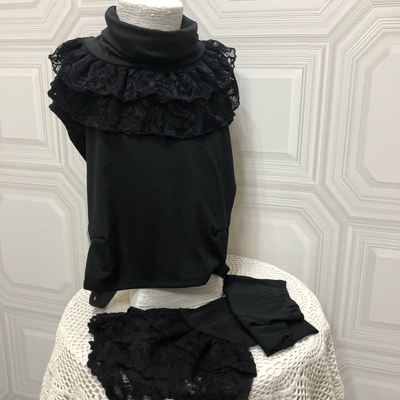 Stretch lace collar and sleeve set