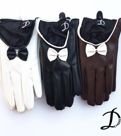 Two tones leather gloves