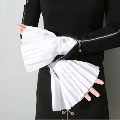 Pleated fake cuff