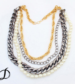 Chains and pearls necklace