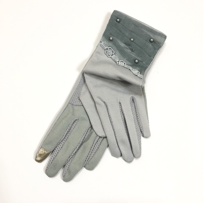Plain long driving gloves