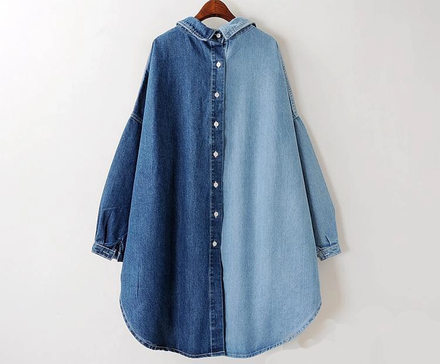 Two Tones Jeans Shirt