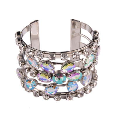 Crystal metal bracelet