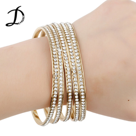 Crystal golden bangles