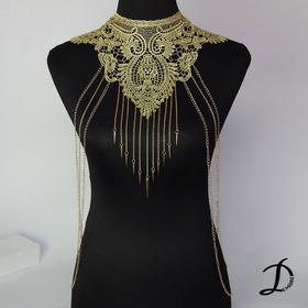 Golden lace and body chain