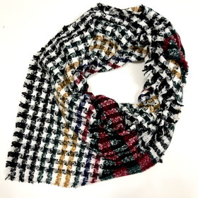 Rainbow checkered shawl