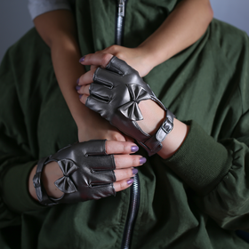 Fionka leather gloves