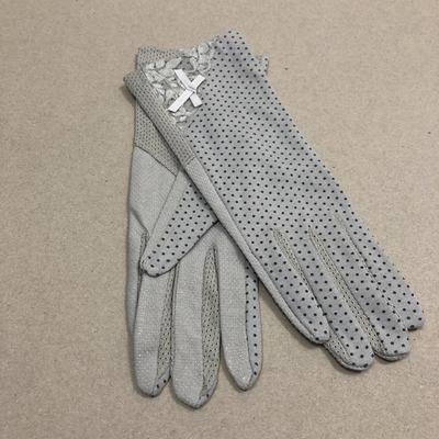 Short dotted gloves